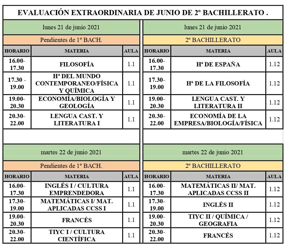 Imagen de la noticia: ADULTOS- Exámenes extraordinarios de ESPA II y 2º de Bachillerato [Actualizado]